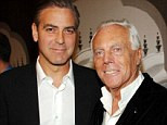 Dapper groom! Giorgio Armani announces he will dress George Clooney for the star's upcoming Venice nuptials to Amal Alamuddin