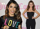 Nikki Reed dons chic LBD while Maria Menounos wows in jumpsuit at Juicy Couture launch party