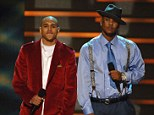 Changing their ways? Chris Brown and The Game are set to play at anti-gang basketball game in LA, pictured at the AMAs in November 2006