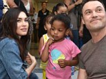Megan Fox and Brian Austin Green show off their parenting skills as they visit children's hospital in LA