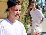 Forgot the sauce? Justin Bieber finds himself going in and out of Chick-Fil-A after an order mix up