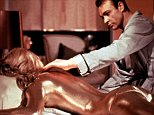 No Merchandising. Editorial Use Only. No Book Cover Usage.  Mandatory Credit: Photo by Moviestore Collection/REX (1578753a)  Goldfinger (James Bond),  Shirley Eaton,  Sean Connery  Film and Television