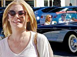 Driving Miss LeAnn! Eddie Cibrian takes Rimes for a spin in his hot rod as they go shopping in Malibu