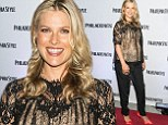Pregnant Ali Larter displays her blossoming bump in lacy black blouse at bash to celebrate Philadelphia Style fashion cover