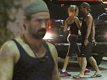 UK CLIENTS MUST CREDIT: AKM-GSI ONLY EXCLUSIVE: Los Angeles, CA - Colin Farrell and a companion head back to their ride after a dinner at Burger Lounge in L.A.  The 38-year-old actor was dressed for a workout in a tank top and shorts as he left the burger joint.  Pictured: Colin Farrell Ref: SPL845560  170914   EXCLUSIVE Picture by: AKM-GSI /