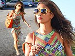 Picture Shows: Nicole Scherzinger  September 17, 2014    Singer Nicole Scherzinger stops by a hair salon in Beverly Hills, California. Nicole was looking fashionable in a printed maxi dress, yellow sunglasses, silver sandals and an orange leather purse.    Non Exclusive  UK RIGHTS ONLY     Pictures by : FameFlynet UK    2014  Tel : +44 (0)20 3551 5049  Email : info@fameflynet.uk.com