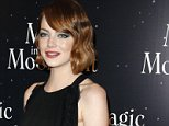 "Actress Emma Stone poses during a photocall prior to the screening of ""Magic in The Moonlight"" directed by Woody Allen presented in Paris, Thursday, Sept. 11, 2014. (AP Photo/Francois Mori)"