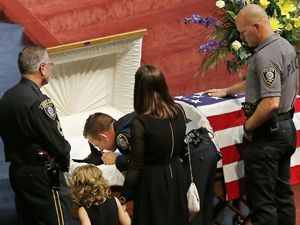 Police dog Kye receives funeral with full honors after being killed in line of duty