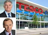 Tesco crisis: Furious shareholders are holding Tesco chairman Sir Richard Broadbent, pictured top left, responsible for a lapse in leadership while new finance chief Alan Stewart, bottom left, has been drafted in early to steady the ship