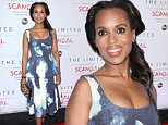 New York, NY - Kerry Washington pictured at the celebration of The Limited Collection Inspired by Scandal at the IAC Building. She looked great on a blue sky print peplum dress and navy satin bow ankle strap heels.\nAKM-GSI        September 22, 2014\nTo License These Photos, Please Contact :\nSteve Ginsburg\n(310) 505-8447\n(323) 423-9397\nsteve@akmgsi.com\nsales@akmgsi.com\nor\nMaria Buda\n(917) 242-1505\nmbuda@akmgsi.com\nginsburgspalyinc@gmail.com