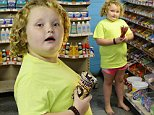 Barefoot Honey Boo Boo gets treats after parents break up in McIntyre, Georgia. Honey Boo Boo and her sister Lauryn stopped by Hunt Brothers Pizza with their bodyguard to get treats and food. Honey Boo Boo was seen in her barefoot as she walked around the store. An fan posed up next to the reality star while she was waiting for her food to be cooked.\n\nPictured: Honey Boo Boo aka Alana Thompson\nRef: SPL848602  220914  \nPicture by: Jason Winslow / Splash News\n\nSplash News and Pictures\nLos Angeles: 310-821-2666\nNew York: 212-619-2666\nLondon: 870-934-2666\nphotodesk@splashnews.com\n
