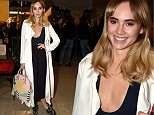Mandatory Credit: Photo by Richard Young/REX (4110580n)\n Suki Waterhouse\n Vogue Fashion's Night Out at Burberry, London, Britain - 23 Sep 2014\n \n