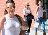 """UK CLIENTS MUST CREDIT: AKM-GSI ONLY\nEXCLUSIVE: Beverly Hills, CA - Actress and TV Personality Kyle Richards meets up with her sister Kim for some shopping at Neiman Marcus after Lake Tahoe rendezvous with husband where she tweeted saying 'My man crush EVERY day (heart) #mcm'"""", while breaking from RHOBH Season 5 filming.\n\nPictured: Kyle and Kim Richards\nRef: SPL848737  220914   EXCLUSIVE\nPicture by: AKM-GSI  \n\n"""