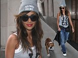 Nicole Scherzinger seen returning to her hotel with her dog in London, UK  Pictured:  Ref: SPL849187  230914   Picture by: SimonJames / Splash News  Splash News and Pictures Los Angeles: 310-821-2666 New York: 212-619-2666 London: 870-934-2666 photodesk@splashnews.com