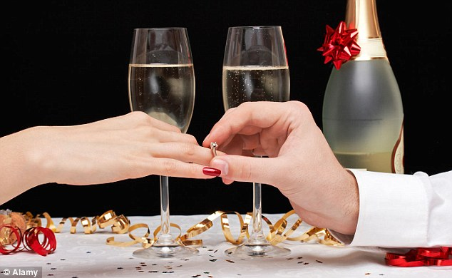 No satisfaction: More than a quarter said they were unhappy with their partner's choice of ring and would upgrade it if they could