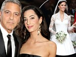 Fit for a princess! George Clooney's fiancée Amal Alamuddin 'will use same wedding gown designer Kate Middleton chose'