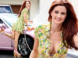 **EXCLUSIVE** Cedit: MOVI Inc.  Date: September 18th 2014\\nFormer Playboy Playmate Holly Madison beats the heat and shows off her enviable legs as she gives her pink Porsche convertible a wash on the driveway of her Las Vegas,Nevada mansion that she shares with her husband Pasqualle Rotella and her baby daughter Rainbow.