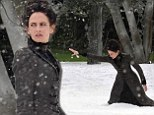Eva Green films dramatic scenes in the snow for gothic drama Penny Dreadful... as Dublin set is transformed into a winter wonderland