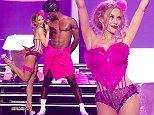 Mandatory Credit: Photo by Ken McKay/ITV/REX (4116161v)\n Kylie Minogue\n Kylie at The Liverpool Echo Arena, 2014 Kiss Me Once Tour. - 24 Sep 2014\n ©Darenote\n