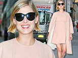 Pregnant Rosamund Pike arrives in a style in pink outfit at the Today Show in New York City, Wednesday Morning Sep 24, 2014\n\nPictured: Rosamund Pike\nRef: SPL849675  240914  \nPicture by: Santi/Splash News\n\nSplash News and Pictures\nLos Angeles: 310-821-2666\nNew York: 212-619-2666\nLondon: 870-934-2666\nphotodesk@splashnews.com\n