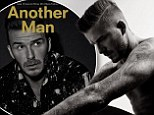 Hunky David Beckham shows off his tattoo collection and impressive abs in new magazine shoot