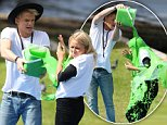 CODY SIMPSON AND LITTLE SISTER ALLI GET SLIMED! \nCODY WAS SPOTTED SLIMING HIS LITTLE SISTER ALLI IN SYDNEY, THE TWO ARE GETTING READY FOR THE NICKELODEON SLIMEFEST EVENT LATER THIS WEEK!\n24 September 2014\n©MEDIA-MODE.COM