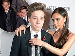 Brooklyn Beckham and doting mother Victoria Beckham attend Harper's Bazaar Women of the Year Awards 2013 at Claridge's Hotel on Tuesday, Nov. 5, 2013, in London. \n\n\nIMAGE DISTRIBUTED FOR HARPER'S BAZAAR -\n(Photo by Jon Furniss/Invision for Harper's Bazaar/AP)