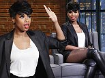 LATE NIGHT WITH SETH MEYERS -- Episode 101 -- Pictured: (l-r) Musical guest Jennifer Hudson during an interview with host Seth Meyers on September 23, 2014 -- (Photo by: Lloyd Bishop/NBC/NBCU Photo Bank via Getty Images)