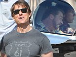 Tom Cruise and Simon Pegg are seen filming a new scene for Mission: Impossible 5 in Rabat, Morocco, 25 September 2014. 26 September 2014. Please byline: Vantagenews.co.uk