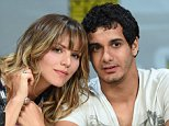 "SAN DIEGO, CA - JULY 24:  Actress/singer Katharine McPhee (L) and actor Elyes Gabel attend the ""Scorpion"" premiere screening and panel during Comic-Con International 2014 at the San Diego Convention Center on July 24, 2014 in San Diego, California.  (Photo by Ethan Miller/Getty Images)"