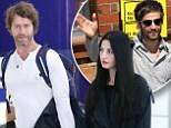 TAKE THAT'S HOWARD DONALD AND HIS GIRLFRIEND KATIE HALIL AT HEATHROW