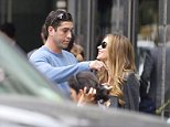 EXCLUSIVE: **PREMIUM RATES APPLY** Sofia Vergara and Nick Loeb spotted together in Manhattan. The former couple were spotted outside his apartment on the Upper East Side this afternoon as the couple shared a laugh and a hug in the street before they parted ways. Vergara was spotted going into the high class condo complex to meet former flame Loeb, where the couple spent a few hours together. Sofia then took a walk downtown where she stopped at a salon to get her nails done.   Pictured: Nick Loeb and Sofia Vergara Ref: SPL848446  240914   EXCLUSIVE Picture by: Butterworth / SplashNews  Splash News and Pictures Los Angeles:310-821-2666 New York:212-619-2666 London:870-934-2666 photodesk@splashnews.com