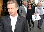 Image licensed to i-Images Picture Agency. 25/09/2014. London, United Kingdom. Victoria Beckham's parents Sandra and Tony Adams and her sister Louise Adams leaving the opening of the new Victoria Beckham store in London   Picture by Stephen Lock / i-Images