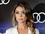 "FILE - In this Aug. 21, 2014 file photo, actress Sarah Hyland arrives at the 5th Annual Audi Emmy Celebration in West Hollywood, Calif.  A Los Angeles judge granted Hyland a temporary restraining order on Friday Sept. 19, 2014, after the ""Modern Family"" actress reported that her ex-boyfriend Matt Prokop had been verbally and physically abusive toward her and she feared for her safety. (Photo by Richard Shotwell/Invision/AP, File)"