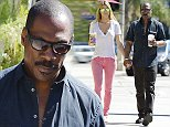 EXCLUSIVE: Eddie Murphy and girlfriend Paige Butcher are all smiles as they head to the car after their regular morning trek to the Coffee Bean in Studio City, CA. Ever the gentleman, funnyman Eddie held the door open for his Australian model girlfriend.  Pictured: Paige Butcher and Eddie Murphy Ref: SPL850598  250914   EXCLUSIVE Picture by: London Entertainment / Splash  Splash News and Pictures Los Angeles: 310-821-2666 New York: 212-619-2666 London: 870-934-2666 photodesk@splashnews.com