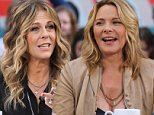 Rita Wilson and Kim Cattrall together at Access Hollywood Live in New York City.\n\nPictured: Rita Wilson, Kim Cattrall\nRef: SPL850219  260914  \nPicture by: Splash News\n\nSplash News and Pictures\nLos Angeles: 310-821-2666\nNew York: 212-619-2666\nLondon: 870-934-2666\nphotodesk@splashnews.com\n
