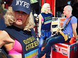 Picture Shows: Gwen Stefani  September 26, 2014\n \n Singer Gwen Stefani and her band No Doubt rehearsing for the Global Citizen Concert in New York City, New York. Gwen was rocking a NYPD hat to show support for the local police department. \n \n Non Exclusive\n UK RIGHTS ONLY \n \n Pictures by : FameFlynet UK © 2014\n Tel : +44 (0)20 3551 5049\n Email : info@fameflynet.uk.com