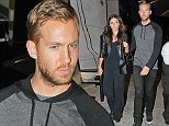 West Hollywood, CA - Rita Ora's ex, DJ Calvin Harris, arrives at Craig's Restaurant with model Aarika Wolf. According to the Daily Star, Rita has written a personal note to her ex-boyfriend, to congratulate him on hitting the no. 1 spot with his latest single Blame. 'Rita is desperately trying to make friends with Calvin and possibly get the tracks back,' a source told the newspaper.  AKM-GSI          September 25,  2014 To License These Photos, Please Contact : Steve Ginsburg (310) 505-8447 (323) 423-9397 steve@akmgsi.com sales@akmgsi.com or Maria Buda (917) 242-1505 mbuda@akmgsi.com ginsburgspalyinc@gmail.com
