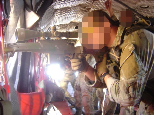 Tour of duty: Ninety images of Special Forces soldiers were found on Soldier N's home computer