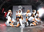 27/9/2014 NFL International Series Miami Dolphins @ Oakland Raiders Wembley Stadium London UK  NFL ON REGENT STREET  THE RAIDERETTES PERFORM ON THE MAIN STAGE    Pic Dave Shopland/NFL UK