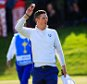 AUCHTERARDER, SCOTLAND - SEPTEMBER 27:  Justin Rose of Europe celebrates victory on the 16th green during the Morning Fourballs of the 2014 Ryder Cup on the PGA Centenary course at the Gleneagles Hotel on September 27, 2014 in Auchterarder, Scotland.  (Photo by Harry How/Getty Images)
