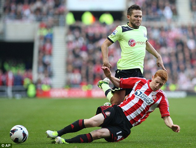 Call-up: Poyet believes that Jack Colback is in the national side '98%' because of Sunderland's influence
