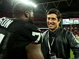 Watson met Channel 4 presenter  Vernon Kay in midweek and the pair were reunited at Wembley