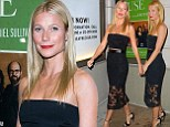 Looks like she skipped the cake! Gwyneth Paltrow reveals slender frame in crop top and skirt at Blythe Danner's play opening days after turning 42