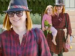 Santa Monica, CA - Alyson Hannigan and her mini-me Keeva Jane wrap up at a friend's house in Sta. Monica, the redhead actress wore a plaid dress shirt, black leggings and black high top sneakers.\nAKM-GSI          October 2, 2014\nTo License These Photos, Please Contact :\nSteve Ginsburg\n(310) 505-8447\n(323) 423-9397\nsteve@akmgsi.com\nsales@akmgsi.com\nor\nMaria Buda\n(917) 242-1505\nmbuda@akmgsi.com\nginsburgspalyinc@gmail.com