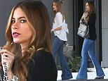Sofia Vergara got out for some Beverly Hills bargains, shopping in jeans and a black top, on Friday, October 3, 2014 X17online.com