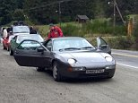 Jeremy Clarkson driving car with apparent Falklands reference in the number plate