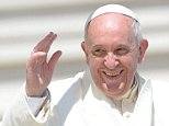 A sunny smile from Pope Francis during the weekly Wednesday General Audience in St. Peter's Square, Vatican City, Vatican, 16 April 2014.  EPA/MAURIZIO BRAMBATTI