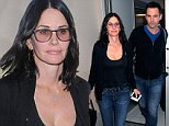 Los Angeles, CA - Actress Courteney Cox must be dressed for the weather elsewhere as she is seen wearing a stifling hot cardigan over a black tank top.  The pretty brunette is ready to depart as she makes her way inside the airport terminal for her flight.\nAKM-GSI       October 3, 2014\nTo License These Photos, Please Contact :\nSteve Ginsburg\n(310) 505-8447\n(323) 423-9397\nsteve@akmgsi.com\nsales@akmgsi.com\nor\nMaria Buda\n(917) 242-1505\nmbuda@akmgsi.com\nginsburgspalyinc@gmail.com