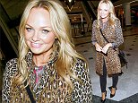 Picture Shows: Emma Bunton  October 05, 2014\n \n Former Spice Girl Emma Bunton smiles to the camera as she leaves Whiteley's Shopping Centre in London, England.\n \n 'Baby Spice' channeled her inner 'Scary Spice' in a leopard print coat which she paired with a pair of black skinny jeans and black pumps.\n \n Non Exclusive \n WORLDWIDE RIGHTS\n \n Pictures by : FameFlynet UK © 2014\n Tel : +44 (0)20 3551 5049\n Email : info@fameflynet.uk.com